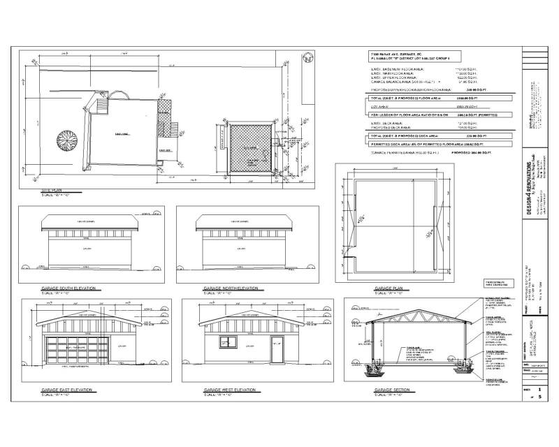 Renovation Design Drawings For Decks Garages And